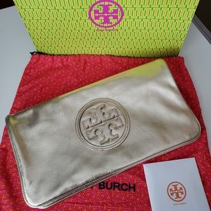 Tory Burch Gold Pouch